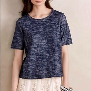 Zoa New York washed denim blue top tees size S